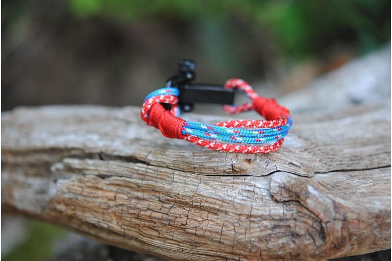 Bracelet Italy-Switz (red s.f.)Manille noir