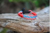 Bracelet Italy-Switz (red s.f.) Manille noir