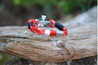 Bracelet Red-White/w-r-gr/Shackle