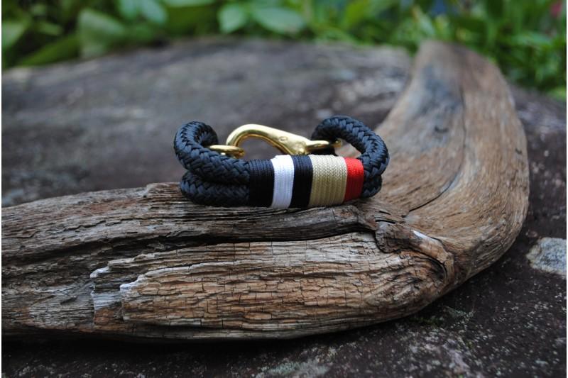 Bracelet, Black/Burberry/Brass