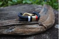 Bracelet Noir/Laiton