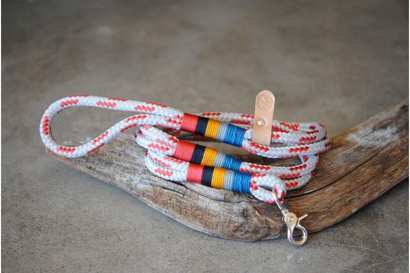 Leash Grey-Red/Seeds