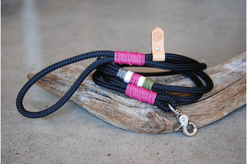 Laisse/Leash Black/Stainless
