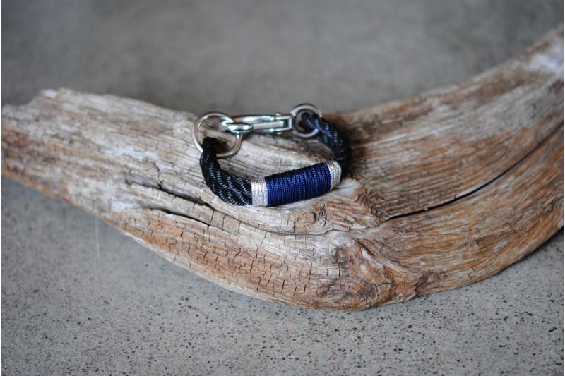 Bracelet Three Strand/Infinity Blue-Silver/Stainless