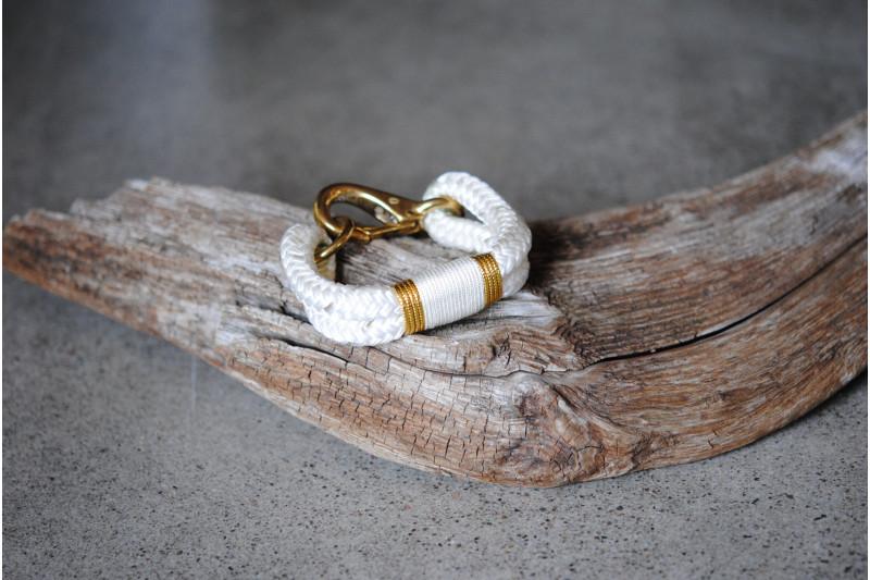Bracelet, White-Gold/White-Gold 02/Brass