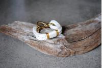 Bracelet Blanc-Or/Laiton