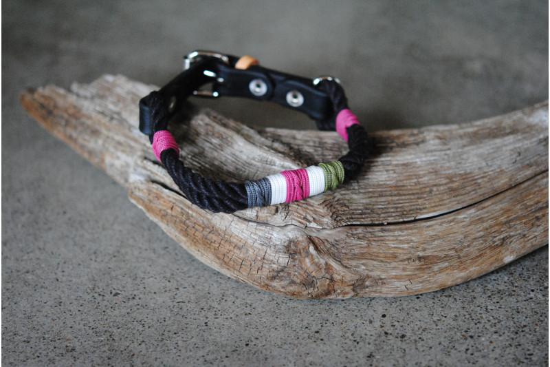 Adjustable collar for small dog Fuchsia Bush