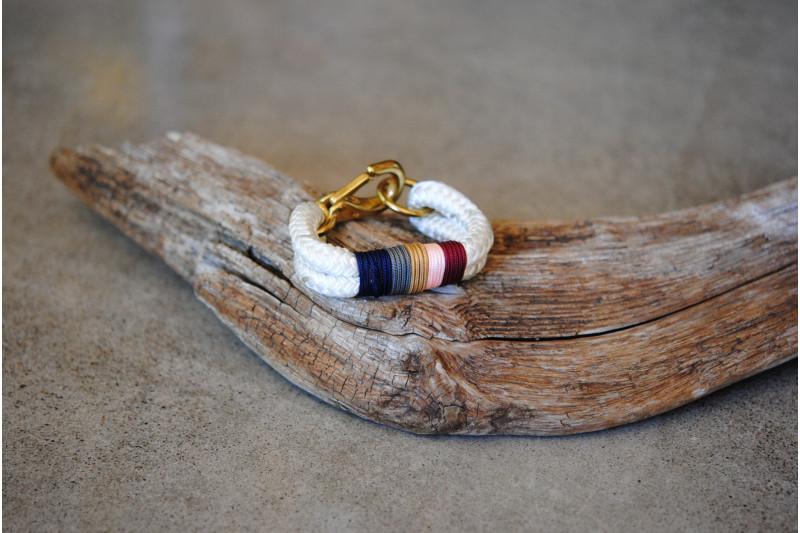 Bracelet Blanc-Or/Hummingbird