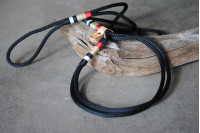 Agility leash Black/Burberry/Brass