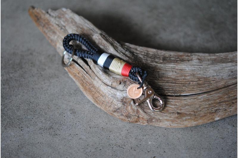 Porte-clé/Keychain Three Strand/mo-w-p-w-gr
