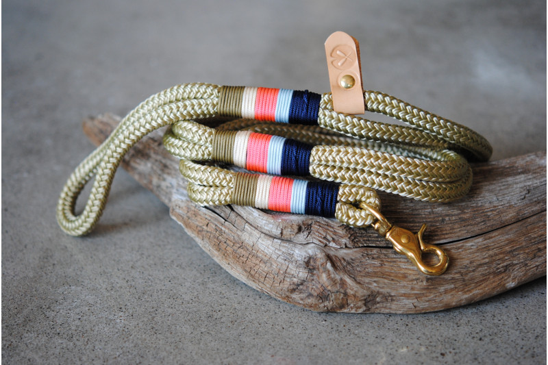 Leash Forest Green/Altin/Brass