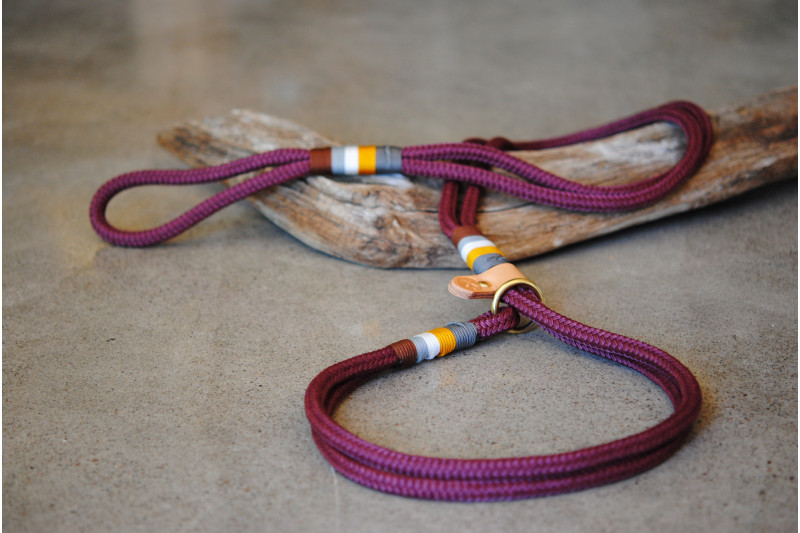 Agility leash Marsala