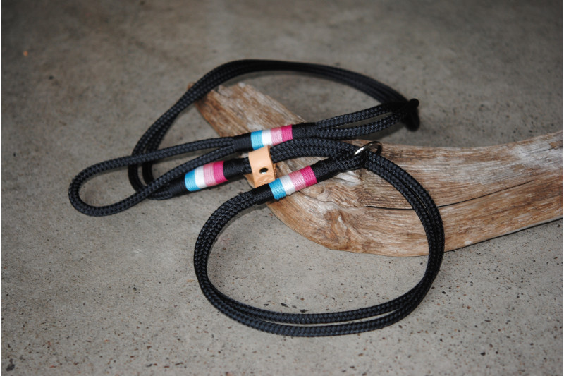 Agility leash Black/Acqua