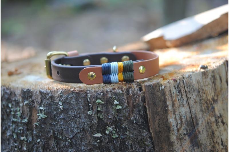 Small dog Biothane collar, Waterfall