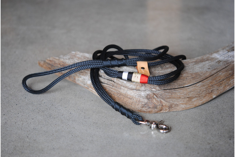 Laisse/Leash Black/Steel