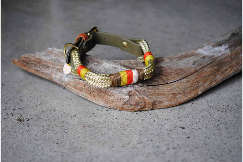 Adjustable collar Oakmoss