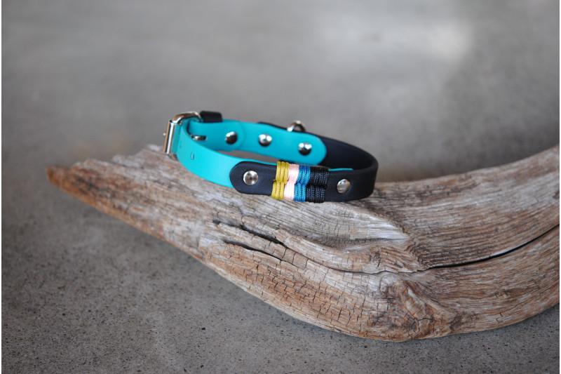Small dog Biothane collar, Lazuli