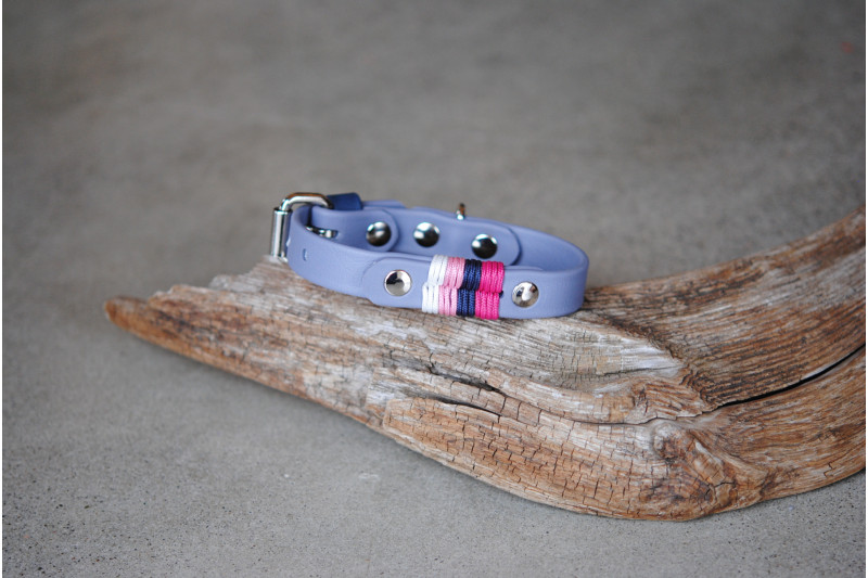 Collier biothane Petit Chien, Life in Pink