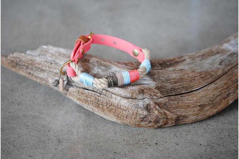 Collier ajustable pour petit chien Coral clay