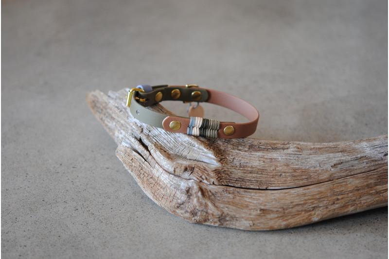 Small dog Biothane collar, Branch