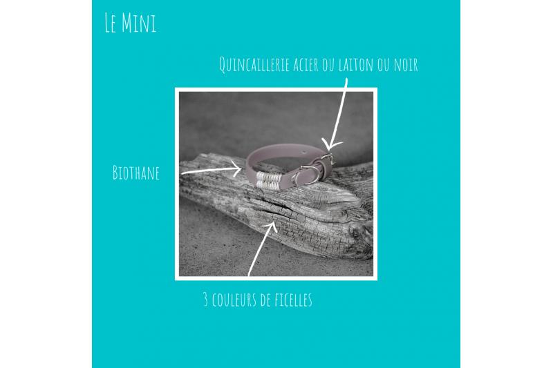 Personaliser votre collier biothane Mini