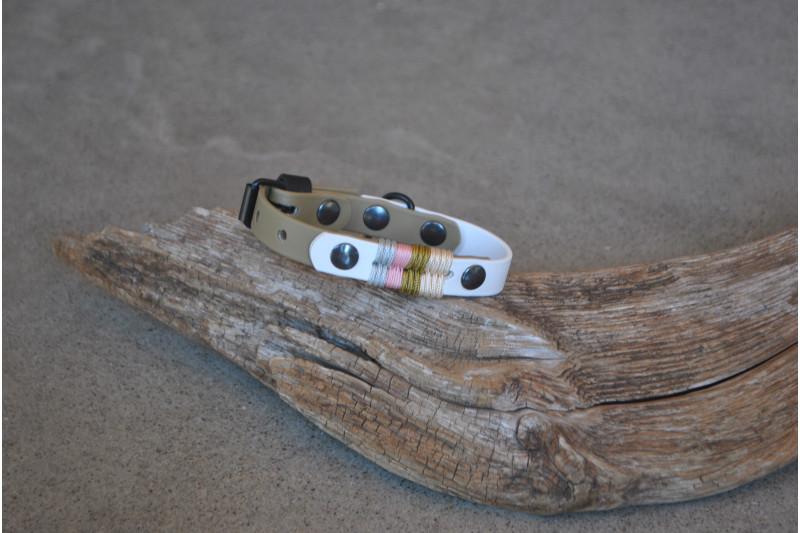 Small dog Biothane collar, Pebble