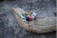 Bracelet Gris-Noir/Laiton