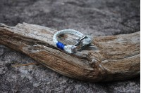 Bracelet White(blue-green) 4mm/Shackle