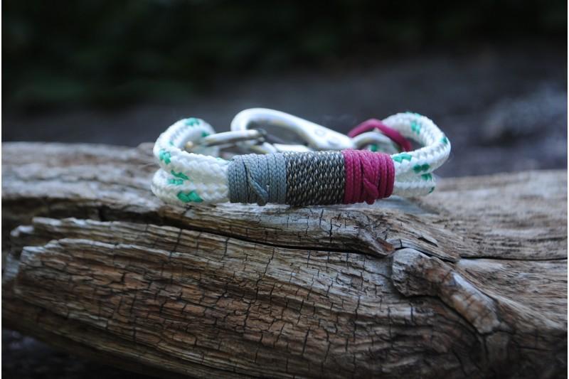 Bracelet White-Turquoise/Acier inoxydable
