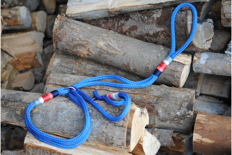 Agility leash Blue-Red/Poppy